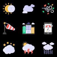le temps et le climat vecteur