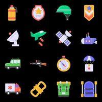 icônes de guerre et de bataille vecteur