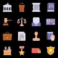 icônes de droit et de justice vecteur