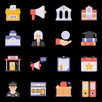 icônes de justice et de promotion vecteur