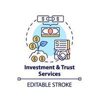 icône de concept de services d & # 39; investissement et de confiance vecteur