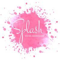 Design moderne splash rose aquarelle lumineuse vecteur