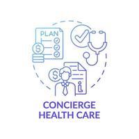 icône de concept de soins de santé concierge vecteur