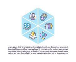 Icônes de ligne de concept de communauté numérique inclusif avec texte vecteur
