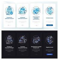 prothèse restaurer l'écran de la page de l'application mobile d'intégration avec des concepts vecteur