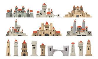 ensemble de tours de château vecteur