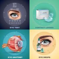 illustration vectorielle de vision design réaliste concept vecteur