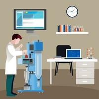 scientifiques, gens, dans, cabinet, composition, vecteur, illustration vecteur