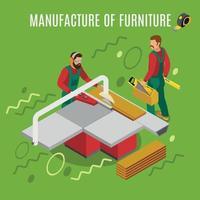 fabrication d & # 39; illustration vectorielle de meubles illustration isométrique vecteur