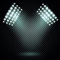 tours d'éclairage ensemble réaliste illustration vectorielle vecteur