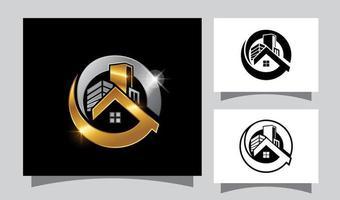 signe de logo immobilier cercle vecteur