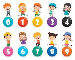 concept de nombres multicolores vecteur