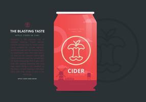 Apple Cider Slush Rafraîchissant Energy Drink Package Modèle Design Design Illustration vecteur