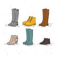 Vecteur de bottes d'automne