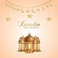 festival islamique ramadan kareem fond avec lanterne islamique et fond vecteur