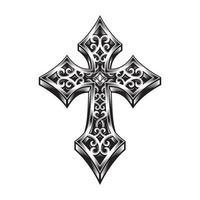 illustration vectorielle de croix celtique ornée vecteur