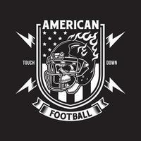 crâne de football américain avec casque vecteur