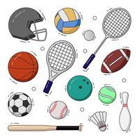 jeu d & # 39; illustration d & # 39; icône sport vecteur