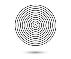 Élément d'éléments de cercle concentrique pour la décoration de conception graphique vecteur