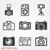 jeu d & # 39; icônes de caméra vecteur