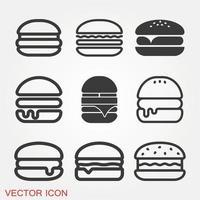 vecteur d & # 39; icône burger