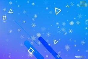 fond bleu abstrait hiver vecteur