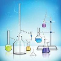 illustration vectorielle de laboratoire verrerie composition vecteur