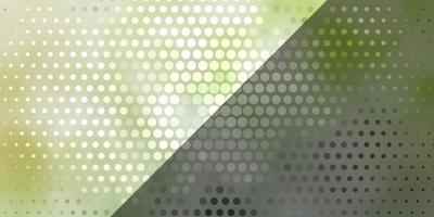 modèle vectoriel vert clair avec des cercles.