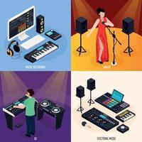 illustration vectorielle de musiciens vie design concept vecteur