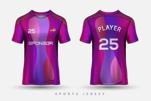 maillot de football et tshirt conception graphique de modèle de maquette de sport pour kit de football vecteur