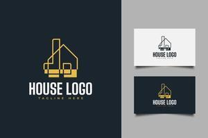 logo de maison abstraite pour entreprise immobilière vecteur