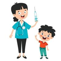 concept de soins de santé avec vaccination vecteur