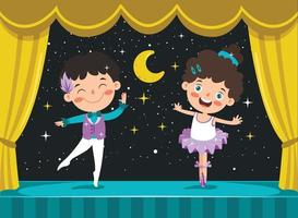 personnages de dessins animés exécutant un ballet classique vecteur