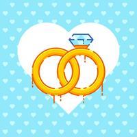 Vecteurs de fiançailles romantiques vecteur