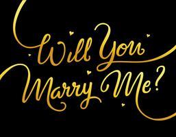 Veux-tu m'épouser vecteur