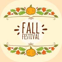 Vecteur Fastival d'automne dessiné à la main