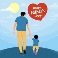 concept de fête des pères heureux vecteur