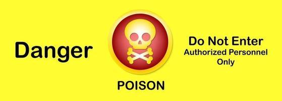 panneau d'avertissement danger poison vecteur