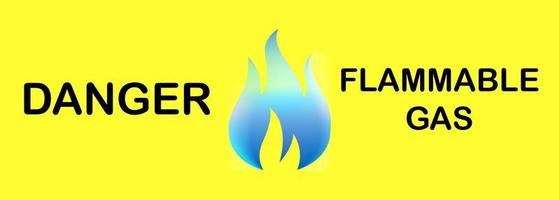 panneau d'avertissement panneau de gaz inflammable vecteur