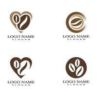 tasse à café logo modèle vecteur icône design