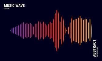 fond abstrait de musique coloré en dégradés de rouge et jaune violet vecteur