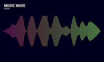 fond abstrait de musique coloré en égaliseur de gradations rose jaune et vert pour illustration vectorielle de musique vecteur