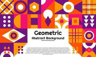 fond géométrique abstrait avec un design minimal vecteur