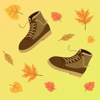 Bottes d'automne pour les hommes vecteur