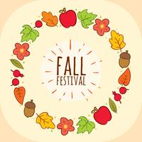 Vecteur de cadre de festival d'automne