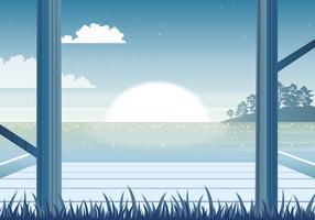 Vector illustration magnifique paysage