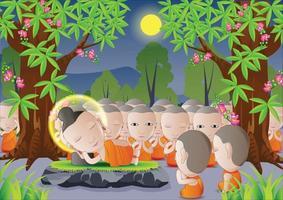 la mort de Bouddha sous un arbre vecteur