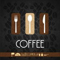 logo restaurant noir vecteur