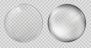 sphère de verre réaliste boule transparente bulle réaliste vecteur