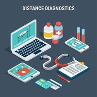 diagnostic médical isométrique set vector illustration